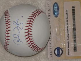 David Wright NY Mets Signed Official Major League Baseball Steiner