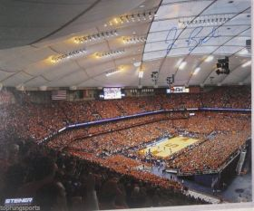 Jim Boeheim signed Syracuse Orangemen Attendance Record 16x20 Photo Steiner Sports