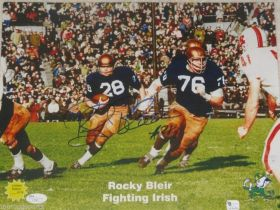 Rocky Blier #28 Signed Notre Dame Fighting Irish 11X14 Photo James Spence