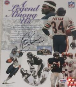 Walter Payton Signed Chicago Bears A Legend Among Us 8x10 Photo PSA/DNA