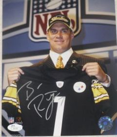 Ben Rothlesberger Signed Pittsburgh Steelers 8x10 Draft Photo JSA Spence coa