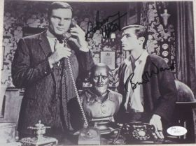 Adam West Burt Ward Dual Signed Batman & Robin 8x10 Television Photo JSA Spence