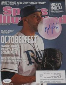 David Price Signed Sports Illustrated Magazine 10-11-10 Tampa Bay Rays JSA coa