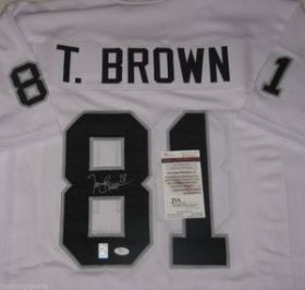 Tim Brown Signed Oakland Raiders Custom White Jersey Size XL JSA Spence COA 0cf51878a