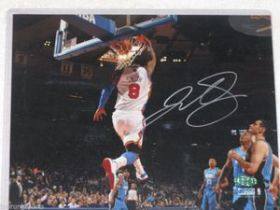 JR Smith Signed New York Knicks NBA 8x10 Action Photo Steiner Sports coa