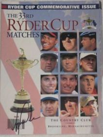 Tiger Woods Signed PGA 1999 Ryder Cup Program Cover James Spence coa