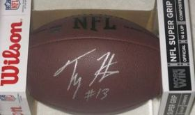 TY Hilton Signed Indianapolis Colts Wilson NFL Football Schwartz coa