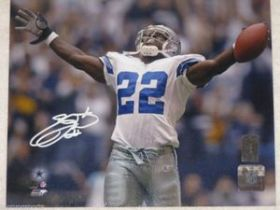 Emmitt Smith Signed Dallas Cowboys 8x10 Action Photo Smith Personal Hologram