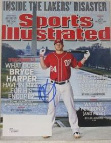 Bryce Harper Signed Sports Illustrated Magazine 2-25-13 Anaheim Angels JSA coa