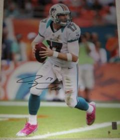 Ryan Tannehill Signed Miami Dolphins 16x20 Action Photo GTSM/Tannehill coa