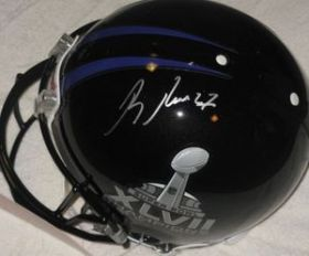 Ray Rice Signed Baltimore Ravens Full Size Authentic SB XVLII Helmet Steiner