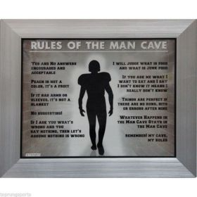 Rules of the Mancave Framed Photo 17.5x14.5 Steiner Sports