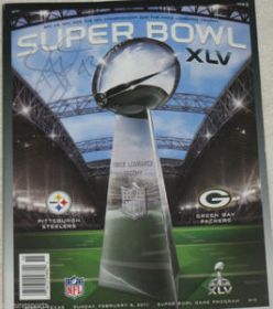 Troy Polamalu Signed Pittsburgh Steelers Superbowl XLV Program Jsa Spence coa