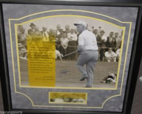 Jack Nicklaus Framed Signed 16x20 Winning Photo Steiner Sports Golden Bear Hologram