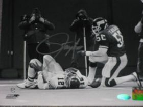 Lawrence Taylor Signed NY Giants NFL 8x10 Photo over Cunningham Steiner coa