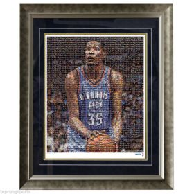 Kevin Durant Oklahoma City Thunder Mosaic Framed Photo Steiner Size 28x24