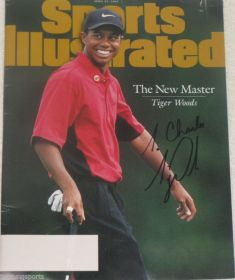 Tiger Woods Signed 4/21/97 Sports Illustrated Magazine To Charles PGA James Spence