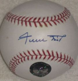 Willie Mays Signed San Francisco Giants Baseball Say Hay Hologram