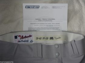 Brett Tomko #28 2009 Yankees Championship Season Game Used Road Pants Steiner