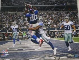 Victor Cruz Signed Giants Catch Against Cowboys 16x20 Photo Steiner Sports coa