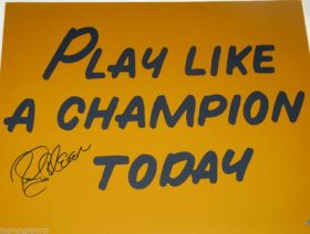 Rocky Blier Signed Notre Dame Play Like a Champion Today 16X20 Photo Steiner Sports