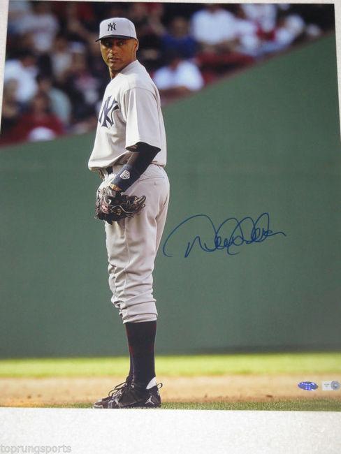 the latest 93cb4 bc712 Derek Jeter Signed New York Yankees Throwback Jersey 16X20 Photo.