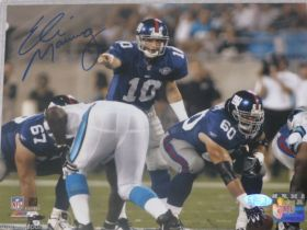 Eli Manning Signed New York Giants Pointing 8X10 Photo Steiner Sports coa