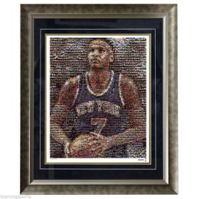 Carmelo Anthony New York Knicks Mosaic Framed Photo Steiner Overall Size 28x24