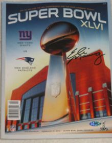 Eli Manning Signed NY Giants Superbowl XLVI Program Steiner Sports coa