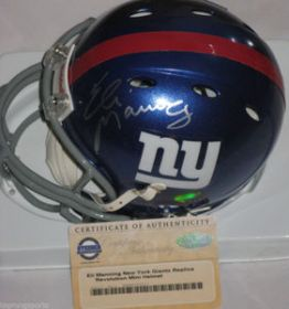 Eli Manning Signed NY Giants Revolution Mini Helmet Steiner Sports coa