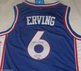 Julius Erving Signed Philadelphia 76ers Jersey w/ Dr.J & HOF 1993 inscription Steiner Sports