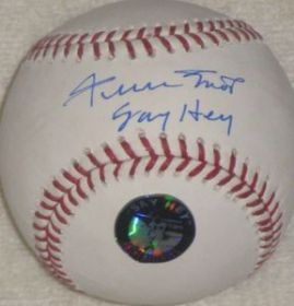 "Willie Mays Signed Auto Giants ""Say Hey"" inscribed Baseball Say Hey Hologram"
