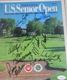 Jack Nicklaus Arnold Palmer Chi Chi Rodriguez 1991 U.S. Senior Open Cover James Spence