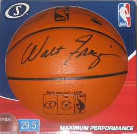 Walt Frazier Signed New York Knicks Spalding I/O NBA Basketball Steiner coa