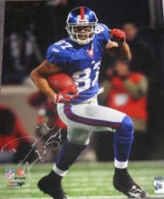 Dominek Hixon Signed NY Giants 16X20 Action Photo Steiner Sports