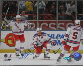 Brad Richards Signed NY Rangers 8X10 First Goal as a Ranger NHL Photo Steiner Sports