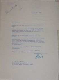 Bing Crosby Signed Letter to Charley Penna with Personal Envelope James Spence