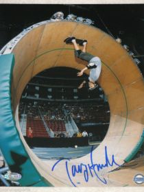 Tony Hawk Autographed 8X10 The Loop Skateboard Photo Steiner Sports