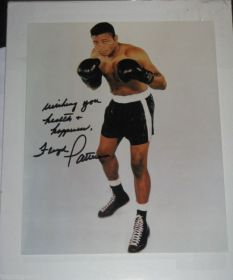 Floyd Patterson Signed Boxing 8X10 Photo James Spence coa