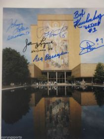 Notre Dame Fighting Irish Signed By 6 Theisman Parsaghian Lattner 8X10 Photo