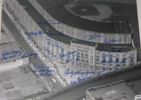 Yankees 16x20 Photo Signed x22 Ford,Houk,Terry,Richardson,Tresh,Coates,Blanchard, Cerv, Skowron, Lopez, Ditmar, Duren and more PSA/DNA