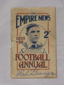 "Red Grange Signed 1935-36 The Empire News Football Annual 3.5x5.5"" guide James Spence"