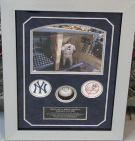 Derek Jeter Signed Original Yankee Stadium Final Season Baseball Collage Steiner Sports