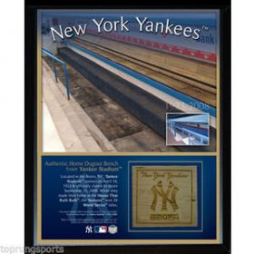 Original Yankee Stadium Game Used Bench piece 8X10 Plaque Steiner Sports coa