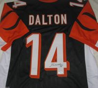 Andy Dalton Signed Cincinnati Bengals Custom Black Jersey James Spence