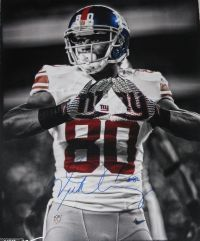 Victor Cruz Signed NY Giants Logo W/ Color Accents 16x20 Photo Steiner Sports