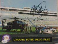 Dale Earnhardt #3 Signed Goodwrench 8x10 Photo W/ Armed Forces James Spence
