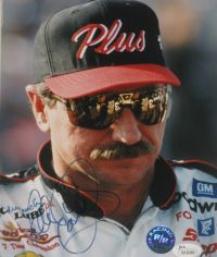 Dale Earnhardt #3 Signed Goodwrench 8x10 Nascar Photo James Spence