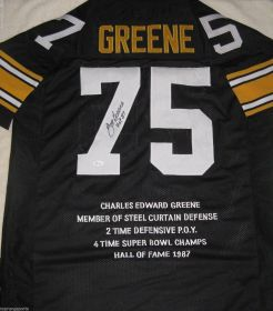 Joe Greene Signed Pittsburgh Steelers Custom Stat Jersey