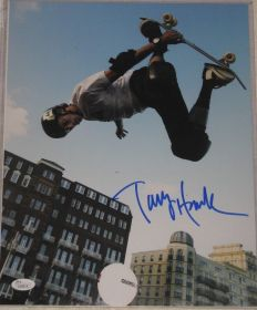 Tony Hawk Signed Autographed 11X14 Skateboard Photo James Spence Authentication